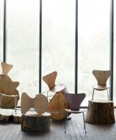 Vlinderstoel Arne Jacobsen showroom-model hout