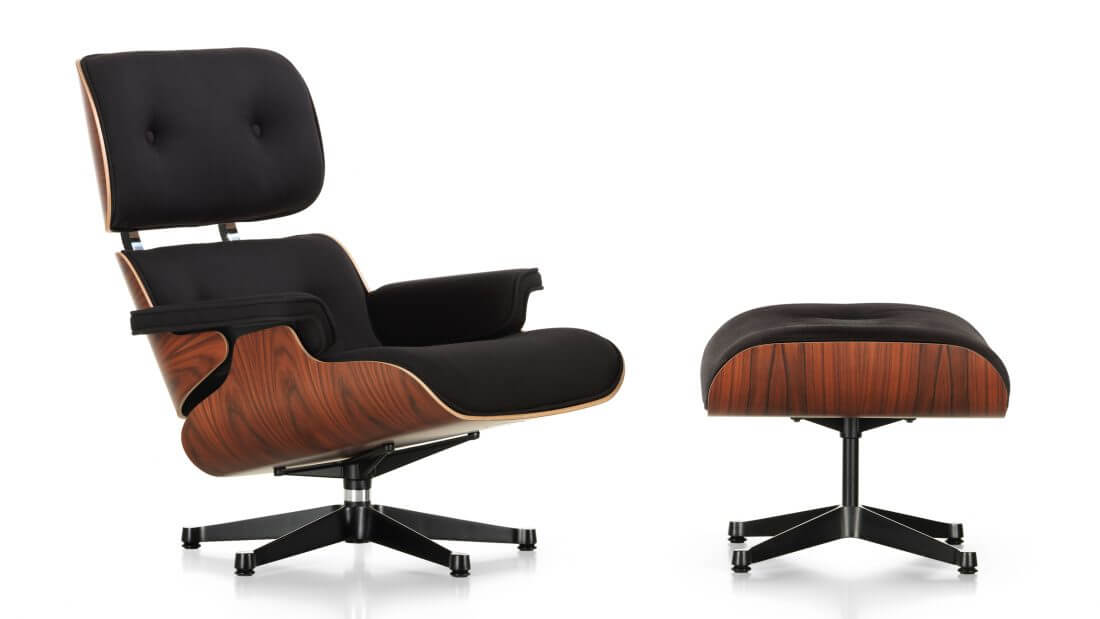 Eames Stoelen Baarn.Eames Lounge Chair Ottoman Limited Edition Twill Fabric Sold